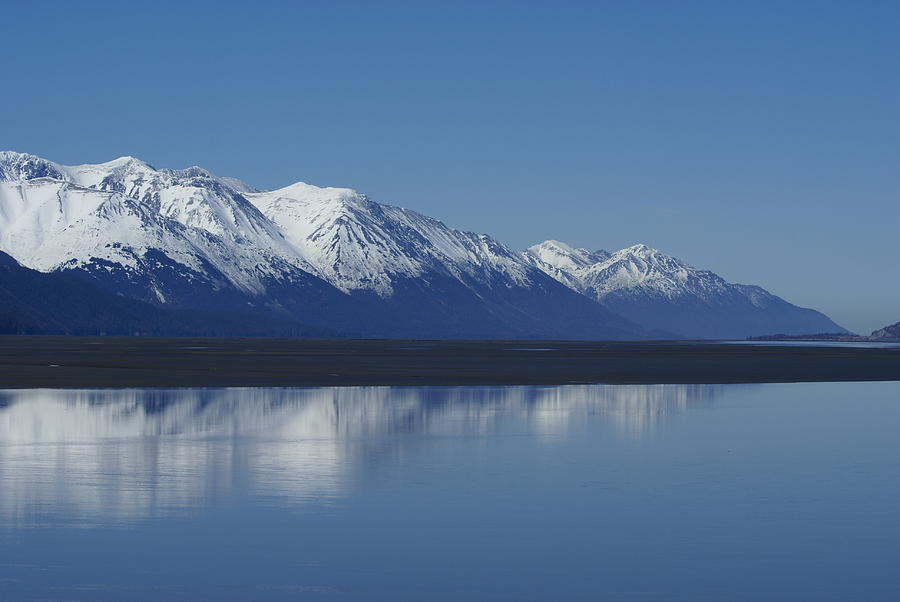 Turnigan Arm Photograph - Reflection Mountains by Robert Reasner