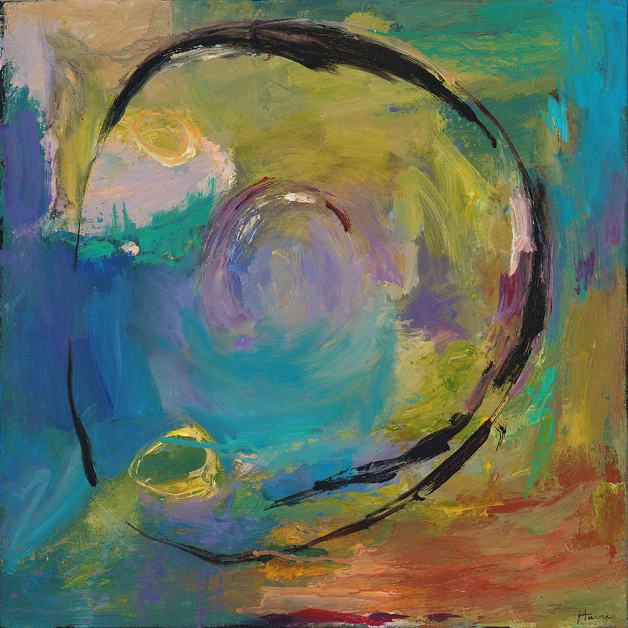 Abstract Painting - Reflections Of Earlier Days by Johnathan Harris