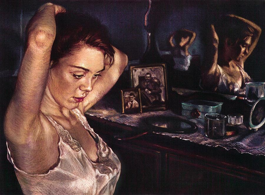 Figure Painting - Reflections Of Sasha by Jean Hildebrant