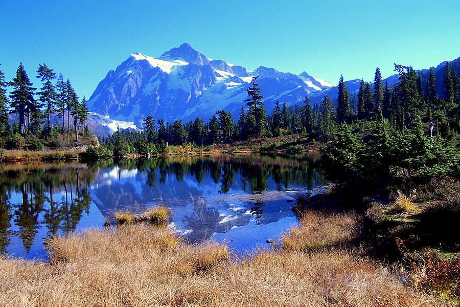 Mountains Photograph - Reflective Beauty by Lynn Bawden