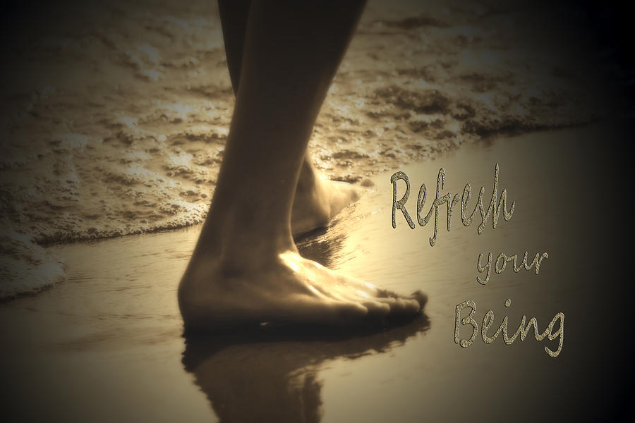 Beach Photograph - Refresh Your Being Spa Series by Cathy  Beharriell