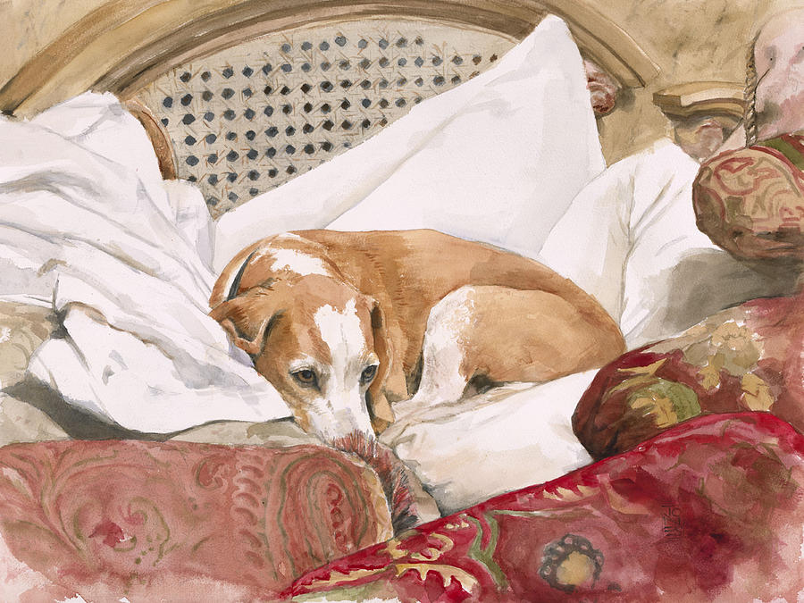 Dog Painting - Regal Beagle by Debra Jones