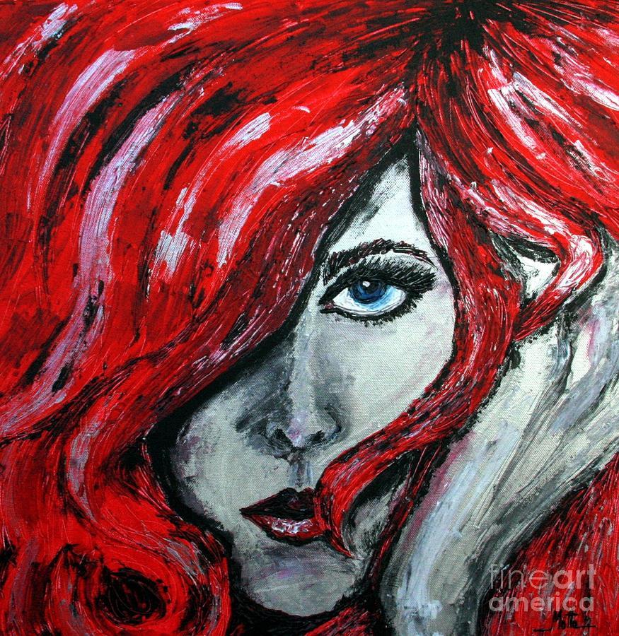 Look Painting - Regard The Look by Cris Motta