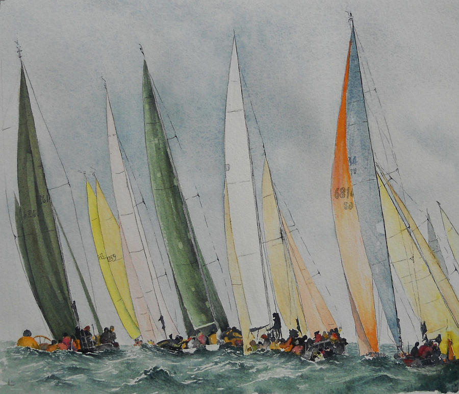 Sailing Boats Painting - Regatta by Carol McLagan