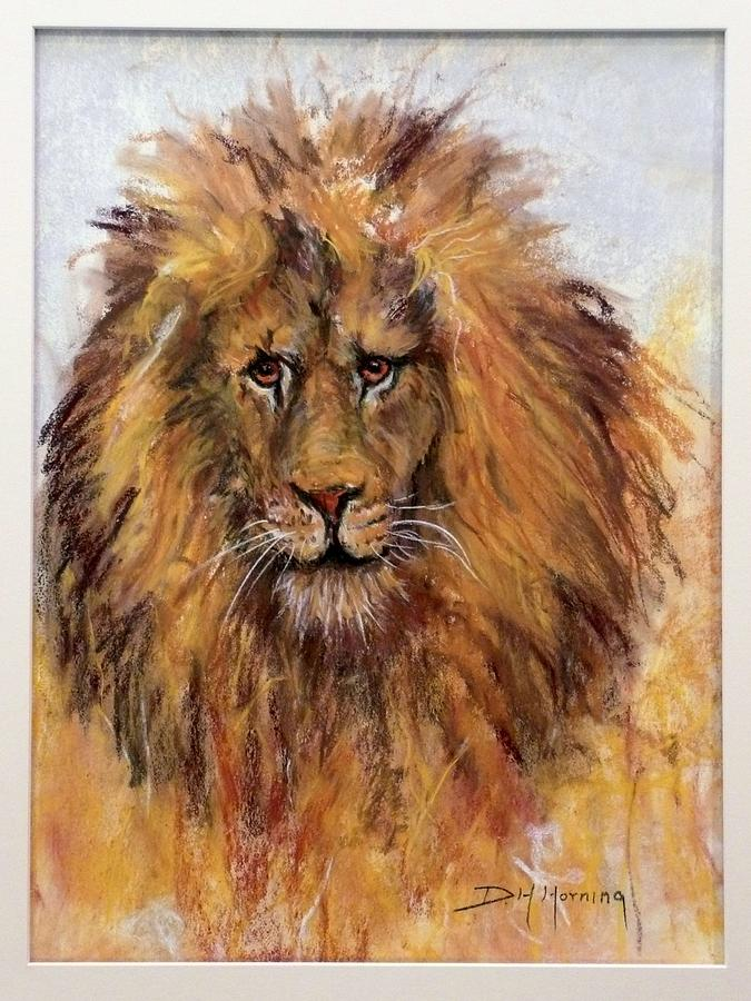Lion Painting - Regis by David  Horning