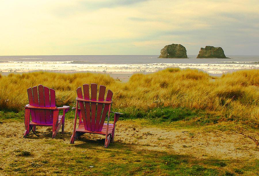 Rockaway Beach Photograph - Relaxing At Rockaway Beach And Twin Rocks by Margaret Hood