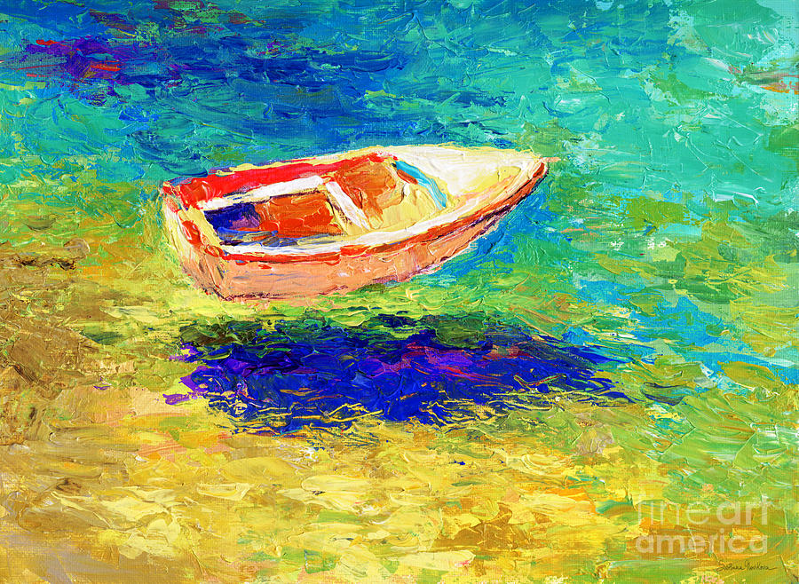 Boat Painting - Relaxing Getaway by Svetlana Novikova
