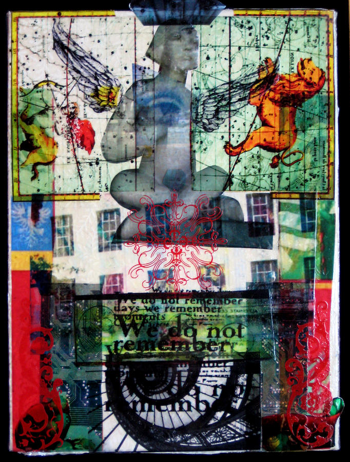 Angel Mixed Media - Remember Automatic Recall by Liz  London