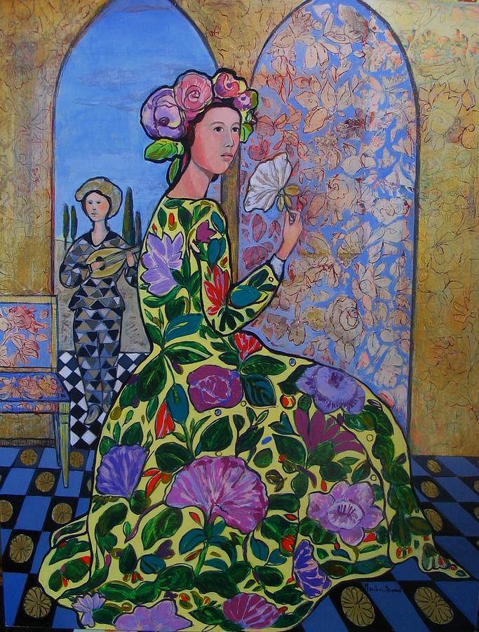 Remembering The Flower Door Painting - Remembering The Flower Door by Marilene Sawaf