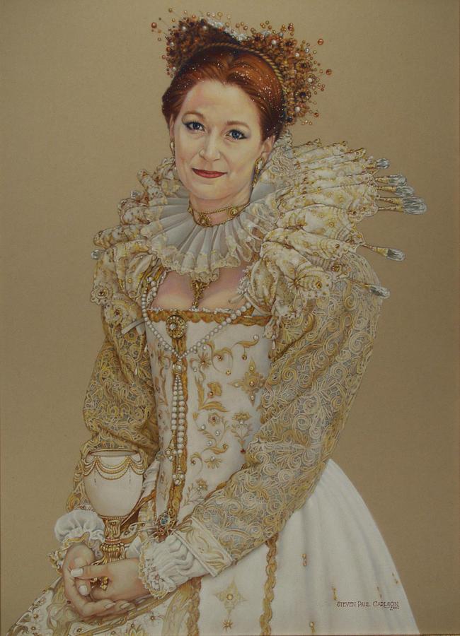 Renaissance Painting - Renaissance Lady by Steven Paul Carlson