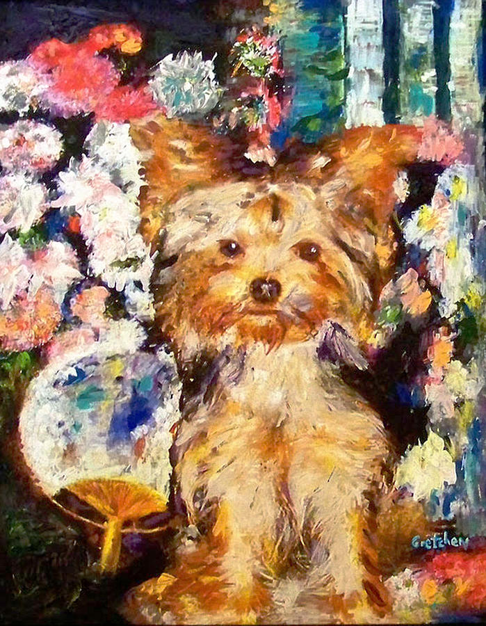 Renoir dog painting by gretchenart fineart for Dog painting artist