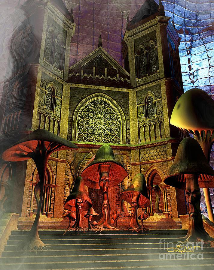 Residence Of The Mushroom Folk Digital Art