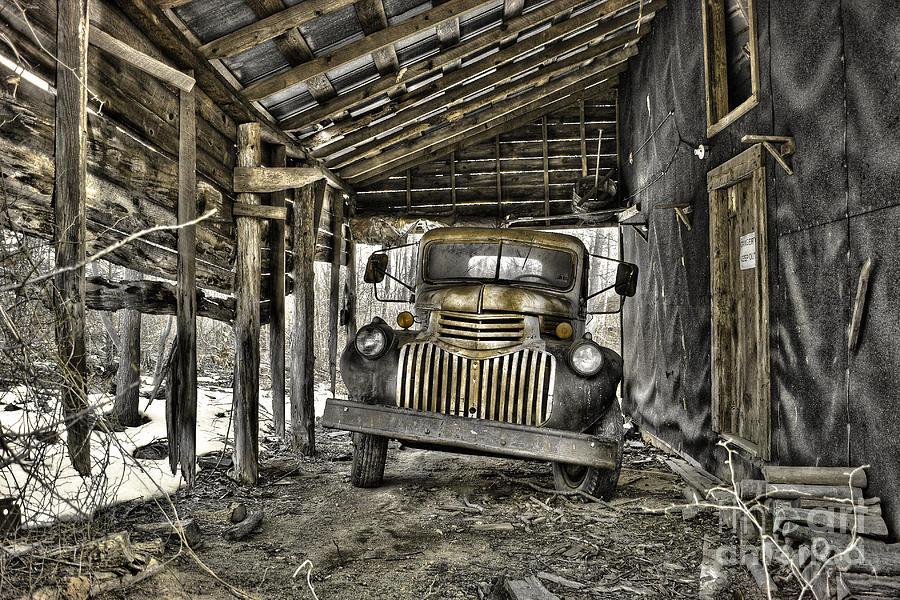 1941 Chevrolet Truck Photograph - Retired by Sari Sauls