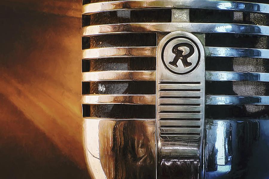 Mic Photograph - Retro Microphone by Scott Norris