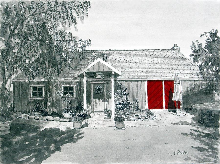 Retzlaff Winery With Red Door No. 2 Painting