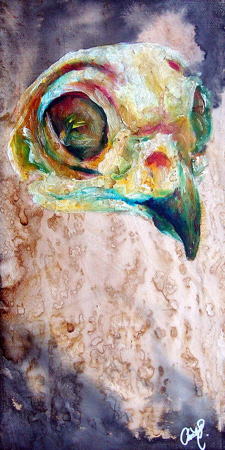 Owl Painting - Revolution Burrowing Owl by Christy  Freeman