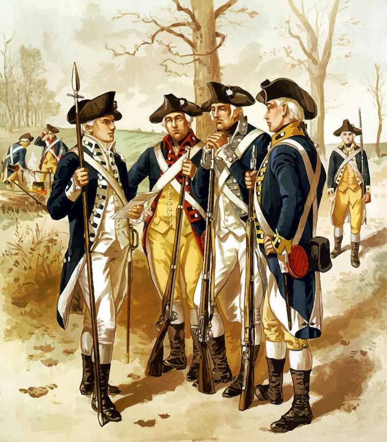 Revolutionary War Infantry Painting