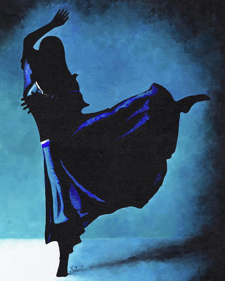 Dance Painting - Reykjavik by Katia Zhukova