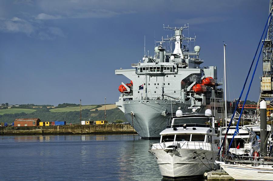 Rfa Argus At Falmouth Docks Photograph