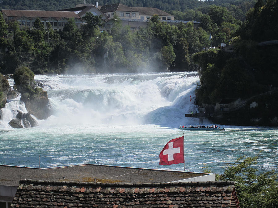Rhine Falls In Switzerland Photograph