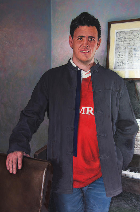 Portrait Painting - Rhys Meirion by Harry Robertson