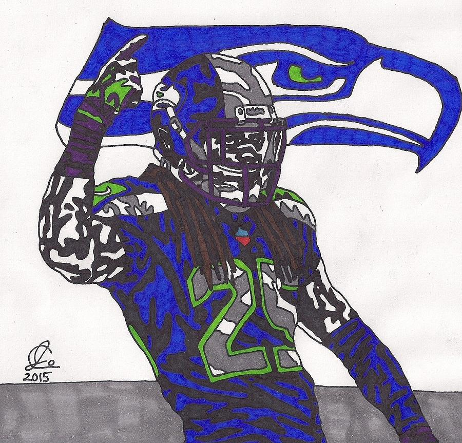 Richard Sherman 1 is a drawing by Jeremiah Colley which was uploaded ...