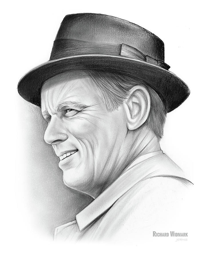Richard Widmark Drawing