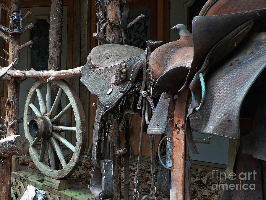 Western Photograph - Ride The Rail by Joy Tudor