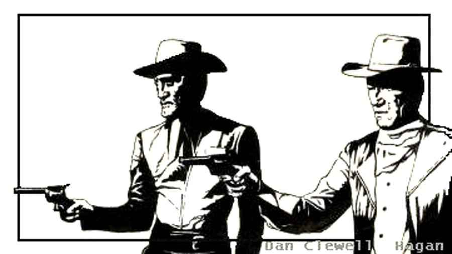 Pen And Ink Drawing - Right Handed Justice by Dan Clewell