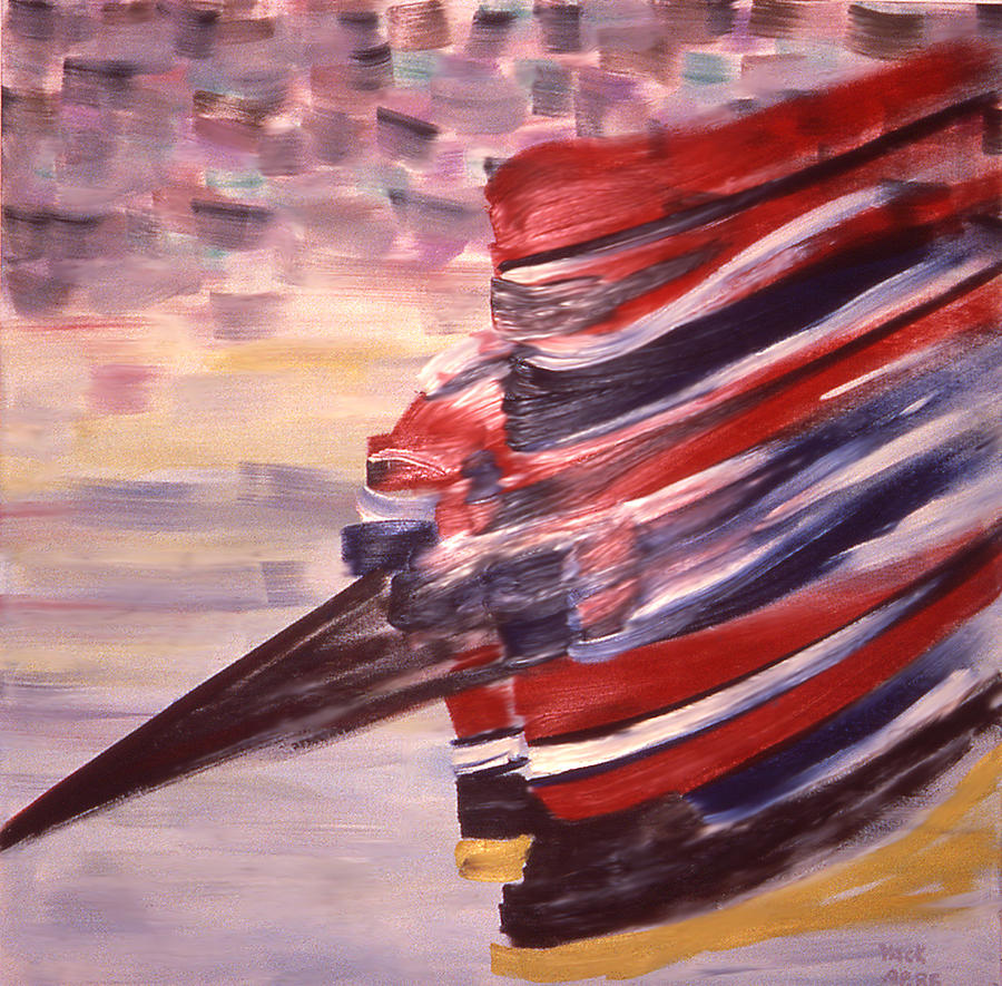 Hockey Painting - Right Wing by Ken Yackel