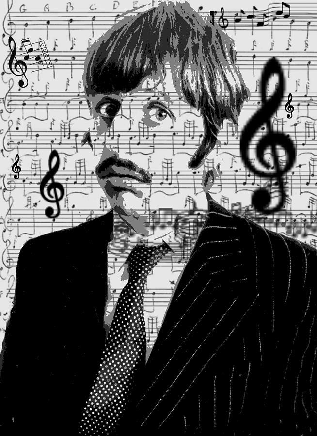 Ringo Star Digital Art - Ringo Star Of The Beatles by Brad Scott