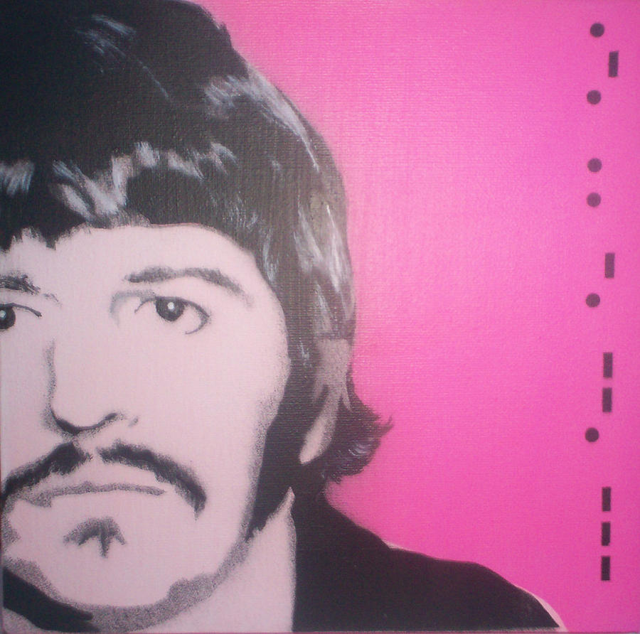 Beatles Painting - Ringo Starr by Gary Hogben