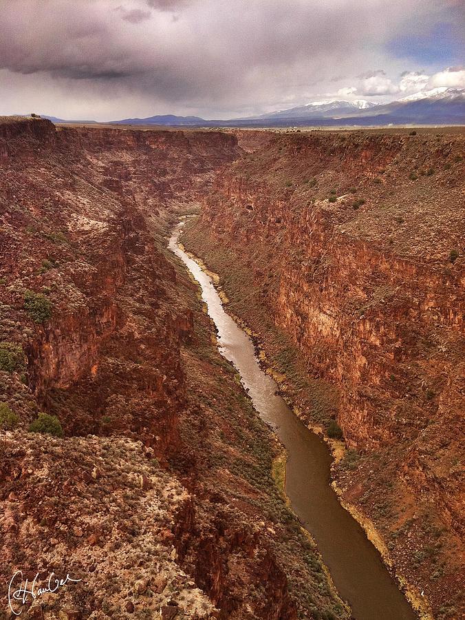 River Photograph - Rio Grande Gorge by Christine Hauber