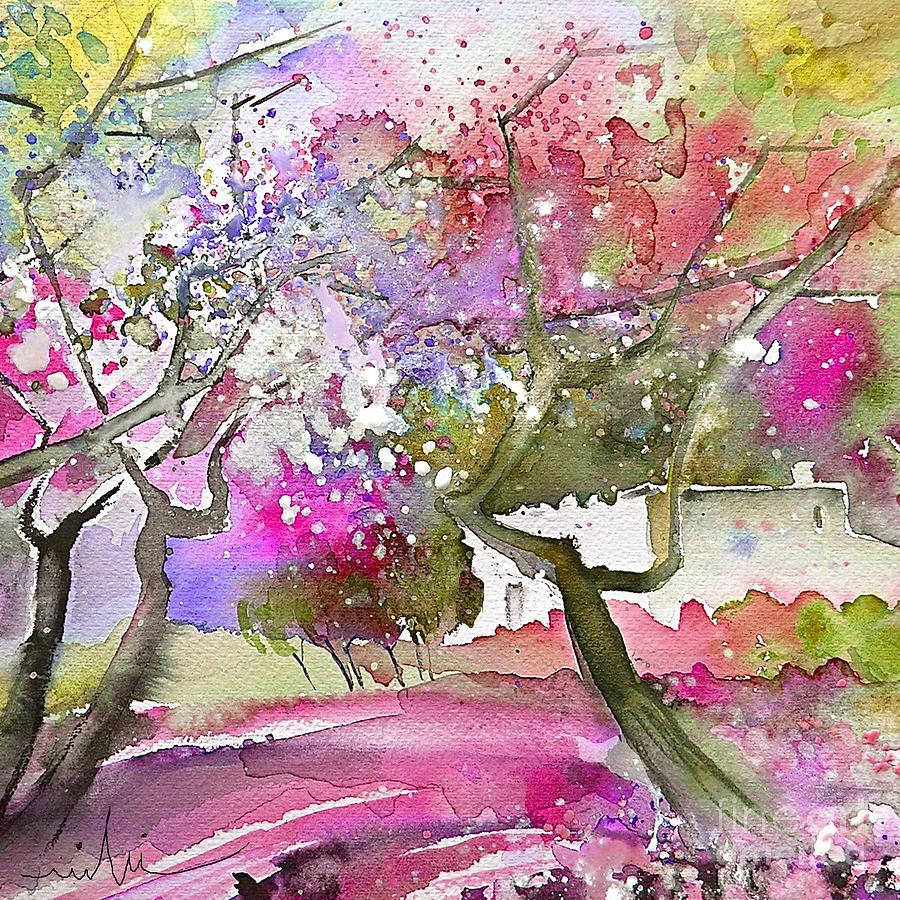 Spain Rioja Painting Travel Sketch Water Colour Miki Painting - Rioja Spain 02 by Miki De Goodaboom