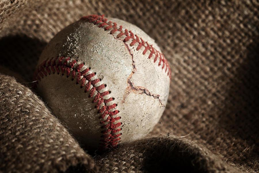 Baseball Photograph - Ripped One by Tom Mc Nemar