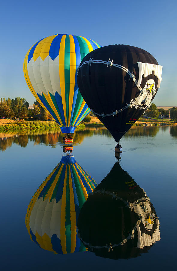 Balloon Photograph - River Dance by Mike  Dawson