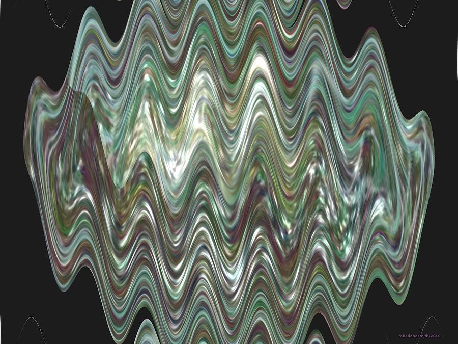 River Digital Art - River Oil Slick by Michelle  BarlondSmith