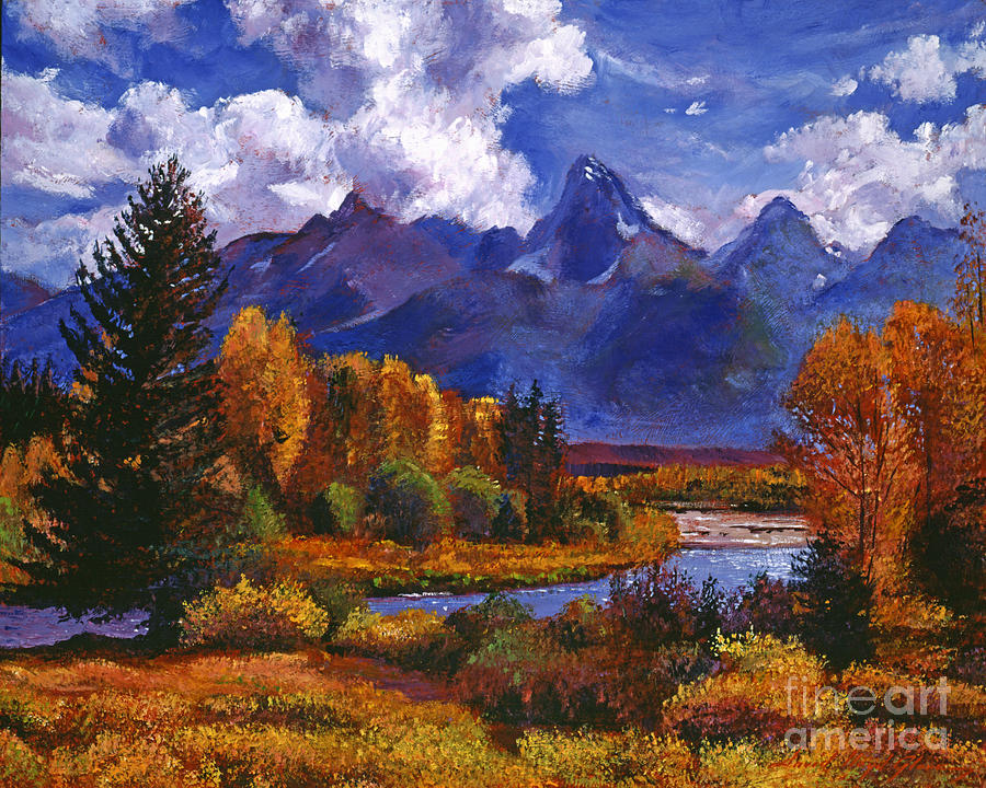 Rivers Painting - River Valley by David Lloyd Glover