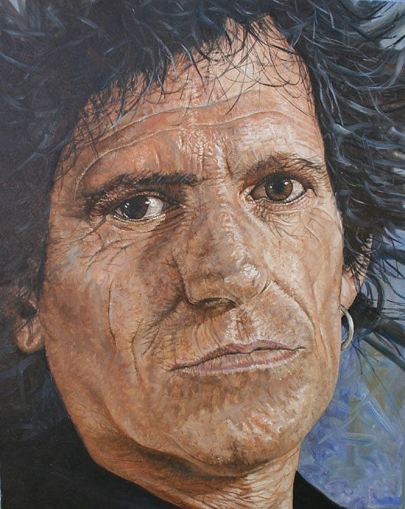 Keith Richards Painting - Road Map For Rock And Roll by Jason  Swain