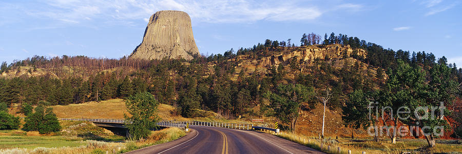 Belle Fourche River Photograph - Road To Devils Tower Crossing Belle Fourche River by Jeremy Woodhouse