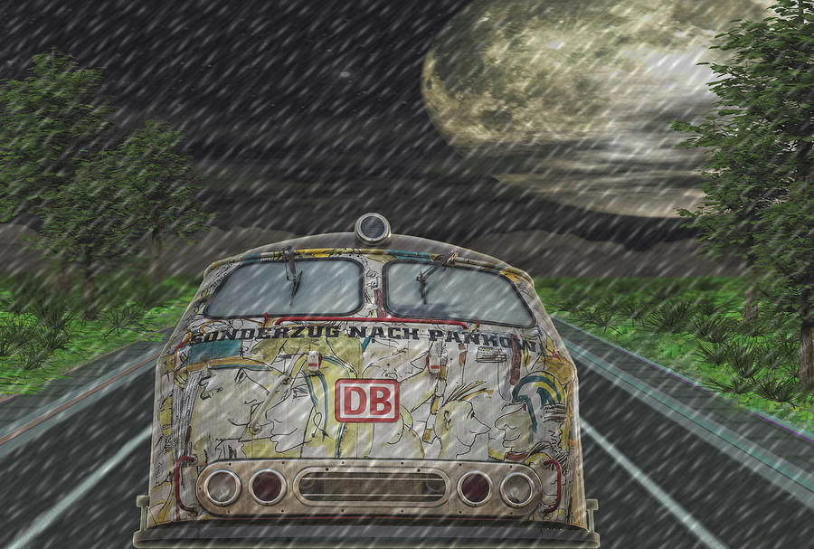 Road Trip In The Rain Digital Art