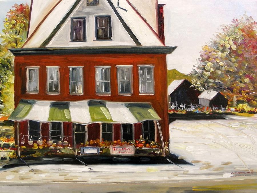 Flowers Painting - Roadside Market by John Williams