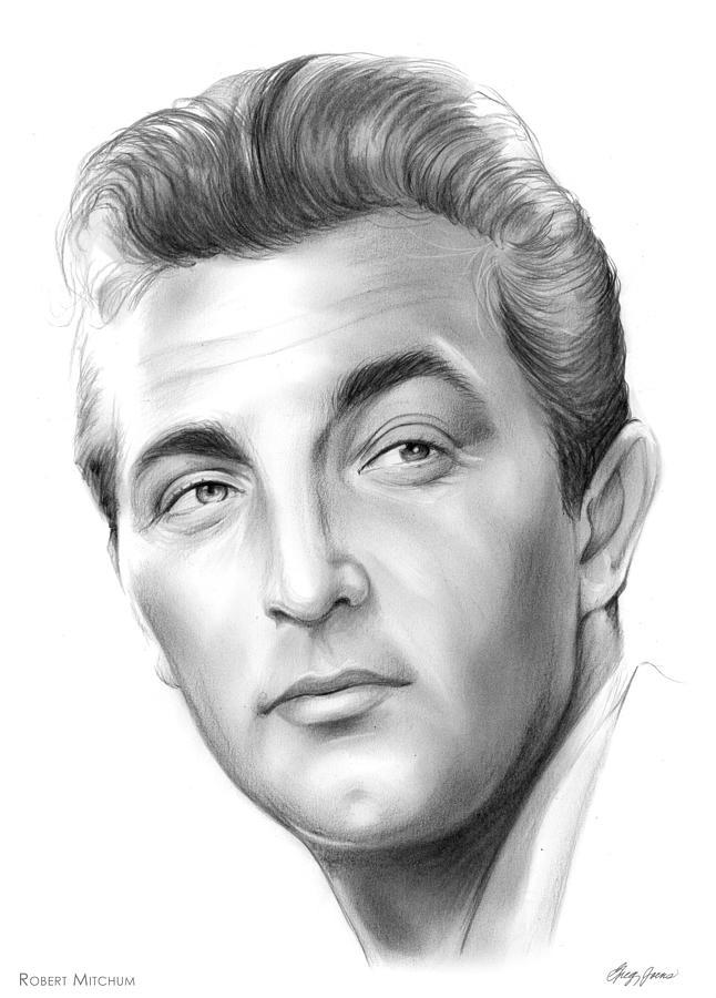 Robert Mitchum Drawing
