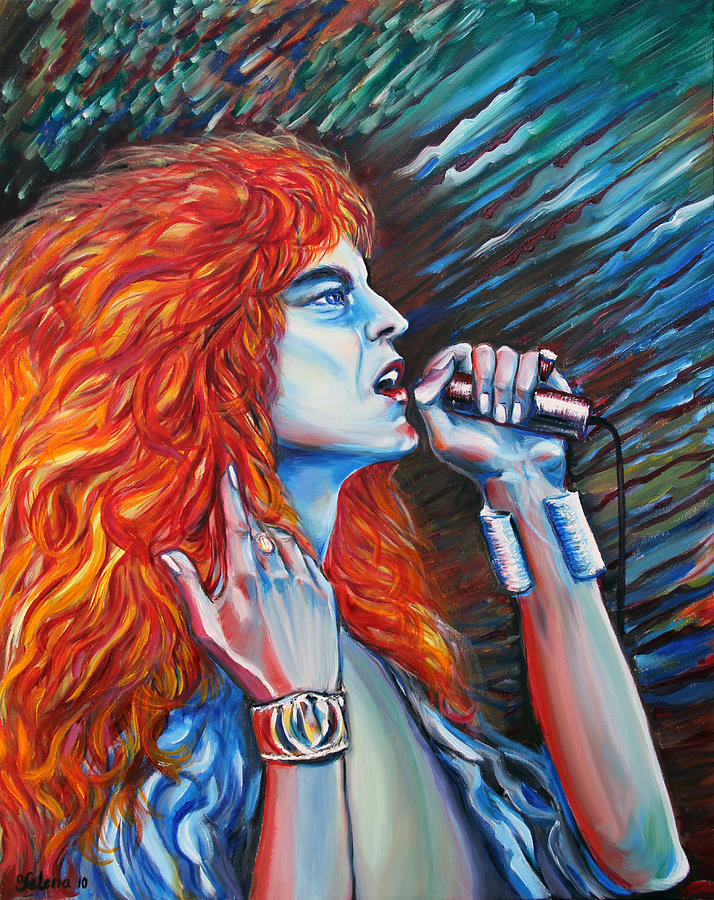 Led Zeppelin Painting Painting - Robert Plant  by Yelena Rubin