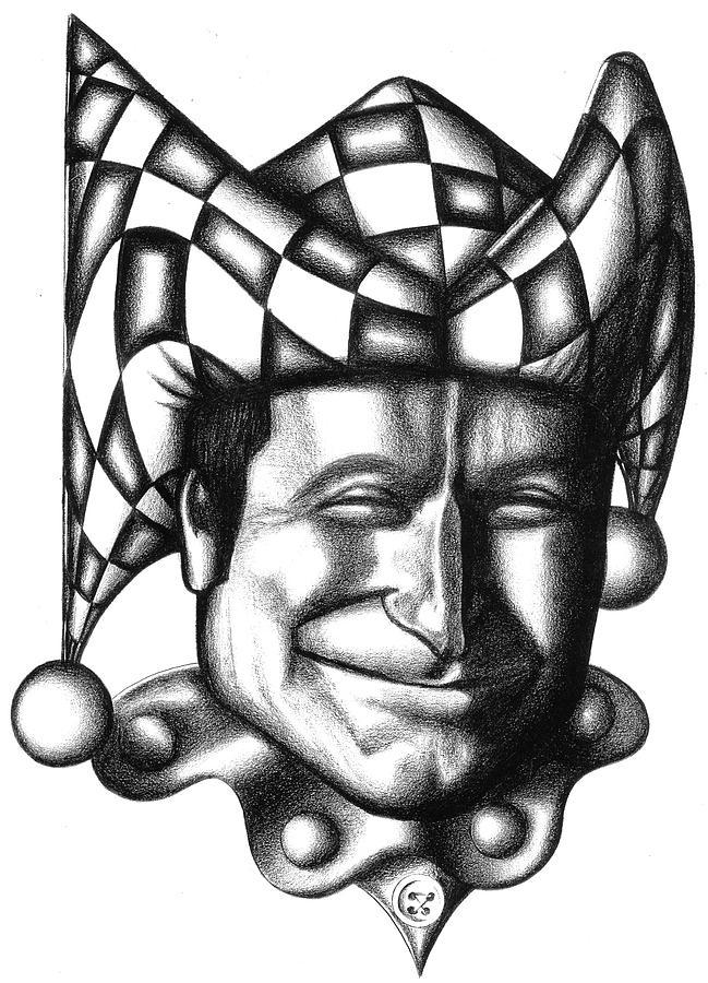 Robin Drawing - Robin Williams by Robert Shoemaker IV