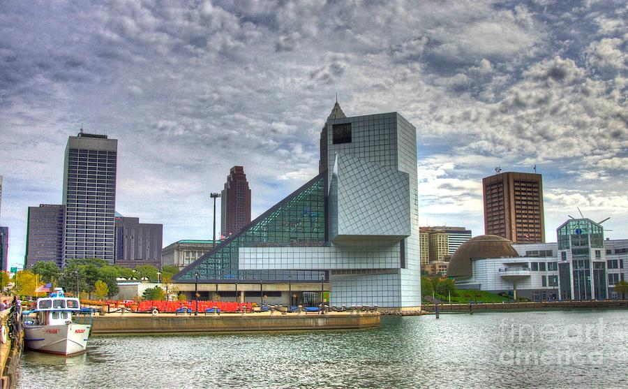 Rock And Roll Hall Of Fame Photograph - Rock And Roll Hall Of Fame by Robert Pearson