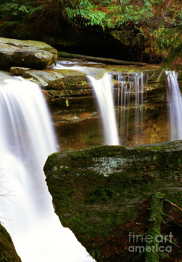 Rock And Waterfall Photograph