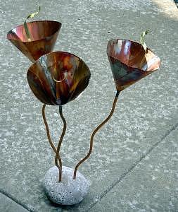 Rock Flowers Sculpture