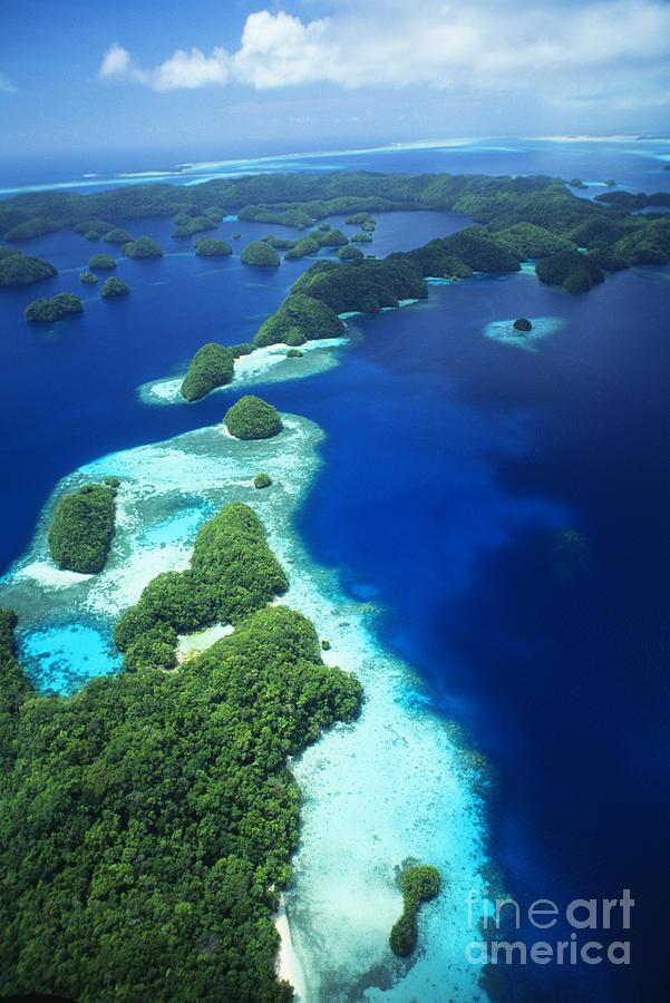 Rock Islands Aerial Photograph