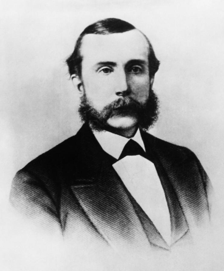1870s Photograph - Rockefeller Family. Industrialist John by Everett